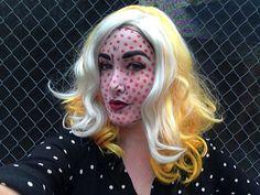 My halloween costume: Roy Lichtenstein benday dot pop art mama :)