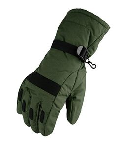 WATERFLY Fashion Mens Warm Waterproof Winter Outdoor Glove Cycling Gloves Biking Gloves Snowmobile Snowboard Ski Gloves Athletic Gloves Mittens *** You can get additional details at the image link.