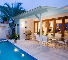 Elegant Patio Cover with Pool Design - Patio Design Ideas 4547