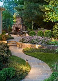 Outdoor backyard area