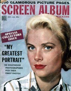 Grace Kelly Screen Album magazine cover 35m-5585