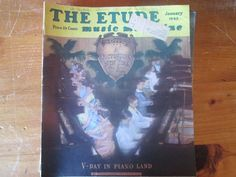 "Lot of 11 Vintage  ""The Etude Music Magazine's 1945"""