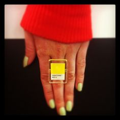 Sporting #Pantone love at #SephoraHQ #nailspotting #Instagram