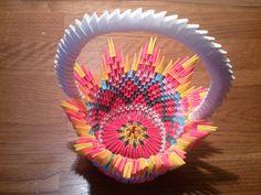 3D origami basket