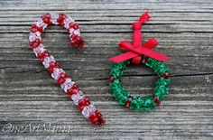 Tri-bead ornaments - we had these on our tree as kids, I think the kids need to make some this year.