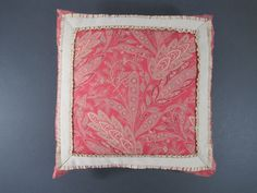 Handmade 12 square red and taupe throw by ellenhighsmithsilver, $34.99