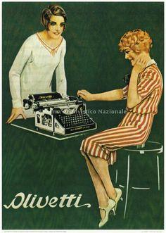Manifesto pubblicitario, disegnato da Marcello Dudovich, della macchina per scrivere Olivetti modello M20, sec. XX prima meta\' (Associazione archivio storico Olivetti, Fondo Olivetti)