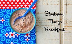 Blueberry Mango Breakfast Homemade Baby Food