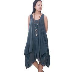 Minibee Women's Sundress Sleeveless Dress Irregular Maxi Dress Blue Minibee http://www.amazon.com/dp/B00XVZBIX4/ref=cm_sw_r_pi_dp_.J9wvb09CJM1C