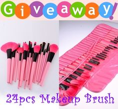 Get a chance to own 24 pcs makeup brush set from ROMWE Clothing at LhyzieBongon's Giveaway. Beauty Giveaway, Makeup Brush Set, Giveaways, Lotion, Beauty Makeup, Eyeshadow, Make Up, Lipstick, Face Beat