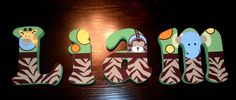 Personalized Wooden Wall Letters for Nurseries and Kids' Rooms - Jungle Theme. $10.00, via Etsy.