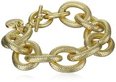 1AR by UnoAerre 18k Gold Plated Circle Link Bracelet | Jewelry Mall