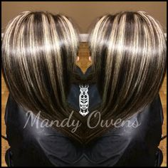 Chunky Highlights and lowlights by Mandy Owens