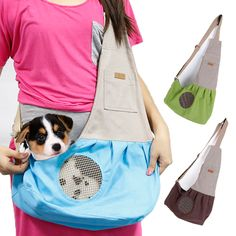Portable Foldable Dogs Carrying Bags Canvas Breathable Slings Handbags For Small Pets Teddy Chihuahua Cat Puppy Dog Carriers //Price: $27.90      #FirstDayOfSummer