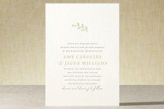 Leaves Letterpress Wedding Invitations by Waldo Press at minted.com