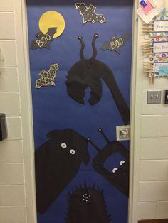 Halloween door, monsters
