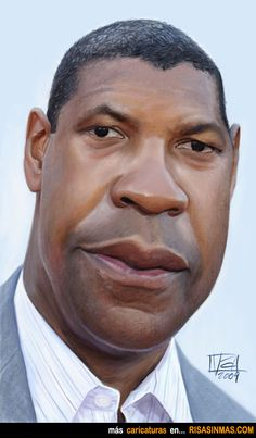 Caricatura de Denzel Washington.