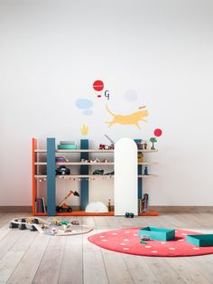 Nidi designs spaces for children and young people. Presenting furniture and accessories that give rhythm and character by creating personal environments.