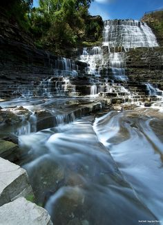 Albion Falls, Hamilton, Ontario Home of so many beautiful waterfalls! Ed Dunn Jr Real Estate Canada Vancouver, Montreal Canada, Great Places, Places To See, Albion Falls, Canada Winter, Places Around The World, Around The Worlds, Beautiful World