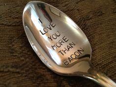 vintage silverware hand stamped spoon I by BellaJacksonStudios. $13.00, via Etsy.
