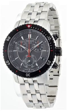 Tissot Mens T0674172105100 TSport Chronograph Metalic Textured Dial Watch * Want additional info? Click on the image. (This is an Amazon affiliate link)