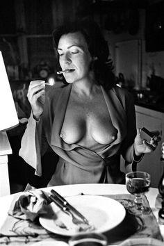 What is it about women who smoke? June Newton by Helmut Newton (1972).