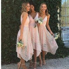Pink Lace Unique With Straps V-Neck Simple Elegant Vintage Wedding Bridesmaid Dresses The long bridesmaiddresses are fully lined, 4 bones in the bodice, chest pad in the bust, lace up back or zipper back are all available, total 126 colors are available.This dress could be custom made, there are no extra cost to do custom size and color.Description1, Material: Lace2, Color: picture color or other colors, there are 126 colors are available, please contact us for more colors, please ask for…