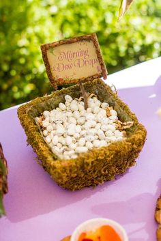 Fairy Garden Birthday Party snacks! See more party planning ideas at CatchMyParty.com!