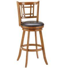 Fairfox Medium Oak Stool - Overstock™ Shopping - Great Deals on Hillsdale Bar Stools