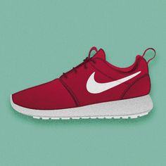 Ilustración vectorial de Nike Roshe  www.rootstudio.es