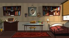 This project supposed to be a tv serie for national cartoon channel.Unfortunatelly it cancelled. Game Background Art, Cartoon Background, Animation Background, Interior Concept, Interior Design, Bg Design, Environment Concept Art, Environmental Design, Visual Development