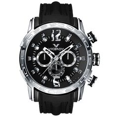 VICEROY Multifunction Black Rubber Strap  202€  http://www.oroloi.gr/product_info.php?products_id=27450