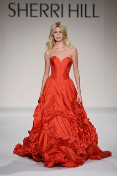 a25870241f8 Sherri Hill Olivia Jordan Red ballgown strapless with ruffle skirt Ypsilon  Dresses in SLC Utah Prom