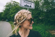 Double dutch milkmaid braids - by Barefoot Blonde
