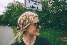 Double dutch milkmaid braids - by Barefoot Blonde