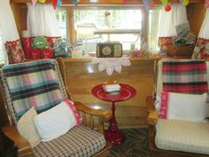 Vintage camper glamper- two rockers would be cozy! ♥♥♥