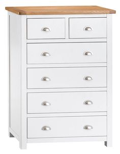 Portland White Painted Oak 2 Over 4 Chest
