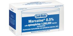 Marcaine from Cook-Waite! Marcaine 0.5% with epinephrine 1:200,000 injection (as bitartrate); (bupivacaine hydrochloride and epinephrine injection, USP); 1.8ml cartridges. #dental #anesthetic