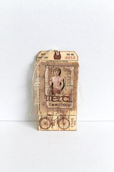 Shabby Chic Tags Bookmark Large Vintage Tags by creativecarmelina, $5.00