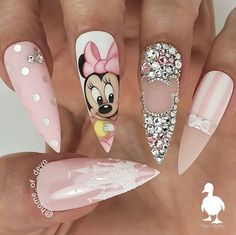 """""""your success is our reward"""" – Ugly Duckling Nails Inc. - You are in the right place about nail art yellow Here we offer you the most beautiful pictures abo - Disney Acrylic Nails, Summer Acrylic Nails, Disney Nails, Best Acrylic Nails, Summer Nails, Disney Inspired Nails, Nails Inc, Gel Nails, Coffin Nails"""