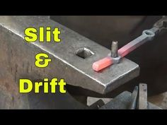 Slitting and drifting holes - ornamental blacksmithing - YouTube