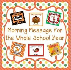 Make Your Mornings Easy! - This product is a $36 value that sells for $25.  Keep your students learning and entertained with these morning messages.  The students increase reading and editing skills as they correct the messages that the visitor writes to your class every morning of the school year.  The children will be eager to read what the visitor has to say to them each morning..  A GIVEAWAY promotion for Morning Message for the Whole Year from Smart Teaching on TeachersNotebook.com (ends on 4-27-2015)