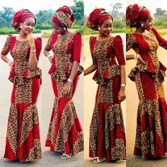 Today we will be taking a look at the latest Ankara styles for weddings. The Ankara fabric, with its African Dresses For Women, African Print Dresses, African Attire, African Wear, African Fashion Dresses, African Women, Ankara Fashion, African Prints, African Shop