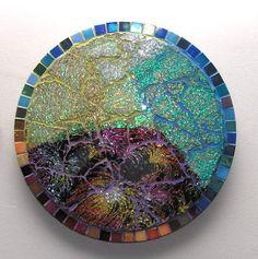 Lava Flow Tempered Glass Mosaic. $95.00, via Etsy.