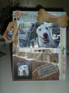 Personalized scrapbook frame for your furkid~
