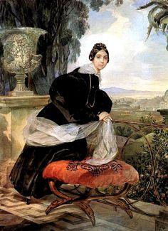Karl Briullov - Portrait of Princess Ye. P. Saltykova