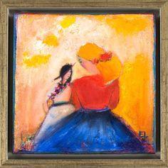 """Emilia Linderholm - """"Världen är din"""" finns att köpa hos oss på Galleri Melefors / is available for purchase at Galleri Melefors #emilialinderholm #emilia #linderholm #art #konst #tillsalu #forsale #woman #dancing #music #darkness #light #mother #child #daughter #colors #inredning #oljemålning #målning #olja #tavla #dekoration #kvinna #musik #dans #mamma #dotter #ljus #fantasi #fridfull #gallerimelefors #melefors"""