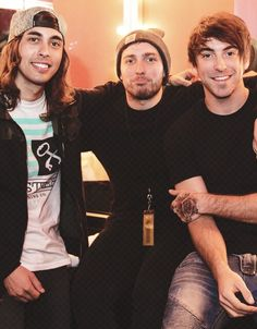 Vic, Josh, and Alex of Pierce the Veil, You Me At Six, and All Time Low (: