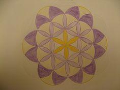 Draw with a compass - pas à pas pour réaliser une rosace au compas - I used to do that all the time as a child