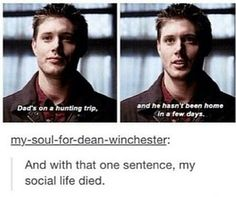 supernatural, dean, and winchester Bild